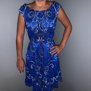 Shail K. Cobalt blue sequence dress size 0
